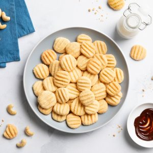 Food photography bolachas de caju